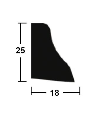 podlahová lišta 18/25/2400