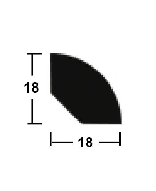 lišta rohová vnitřní 18/18/2400