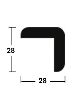 lišta rohová vnější 28/28/2400