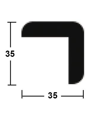 lišta rohová vnější 35/35/2400