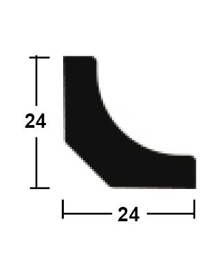 lišta rohová vnitřní dutá 24/24/2400
