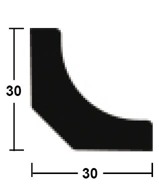 lišta rohová vnitřní dutá 30/30/2400